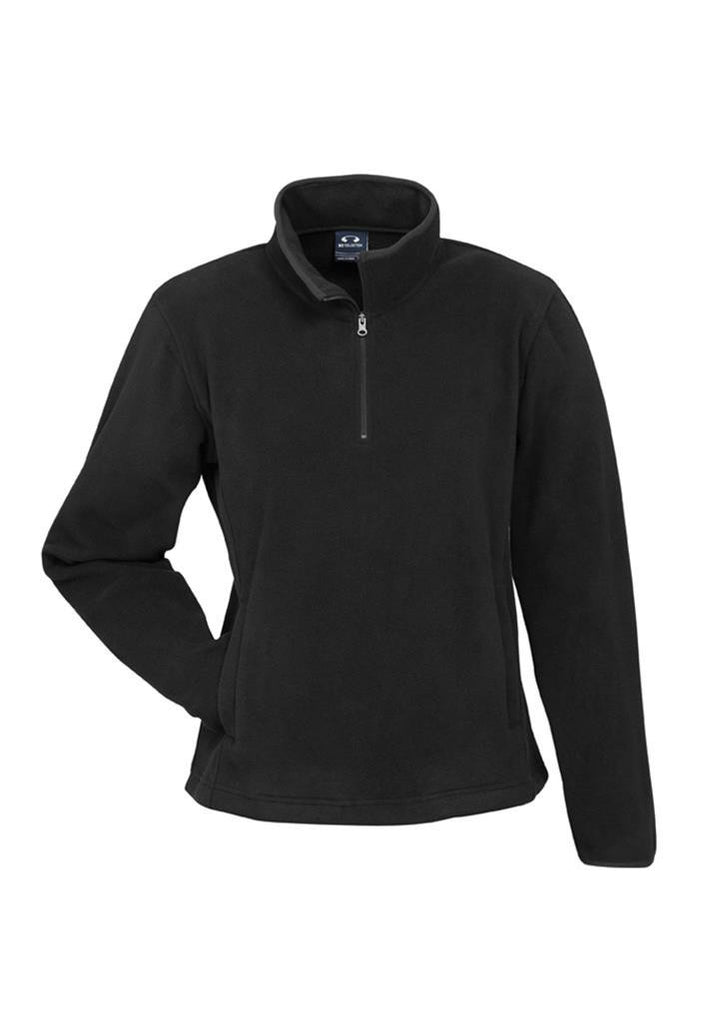 Biz Collection-Biz Collection Ladies Trinity 1/2 Zip Pullover-Black / S-Corporate Apparel Online - 2