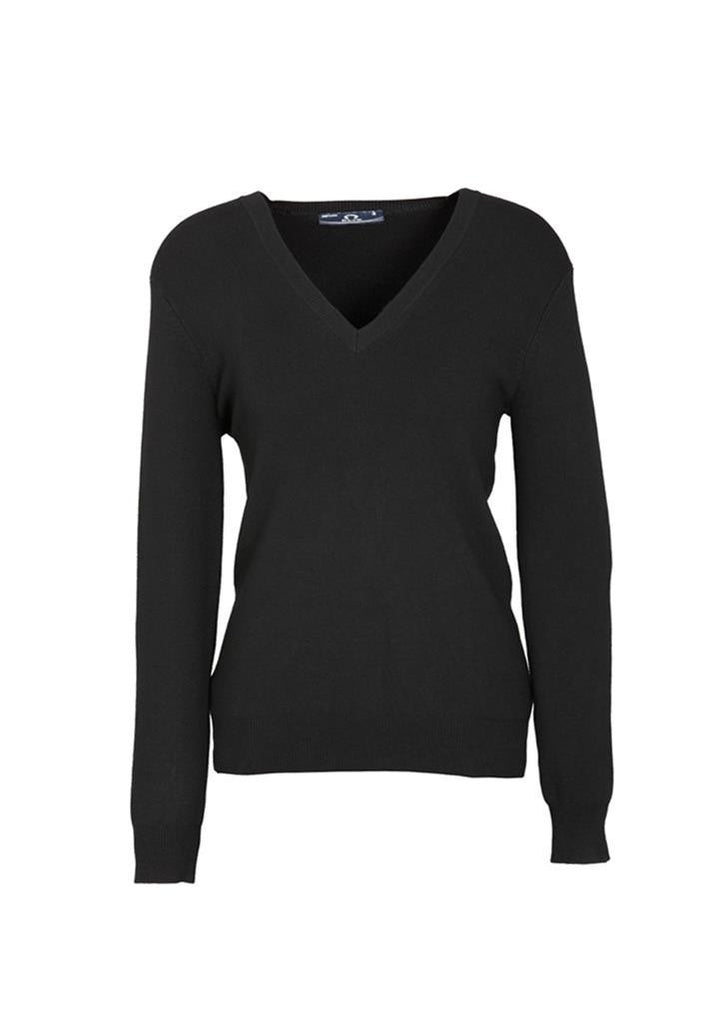Biz Collection-Biz Collection Ladies V Neck Pullover-Black / Small-Corporate Apparel Online - 2