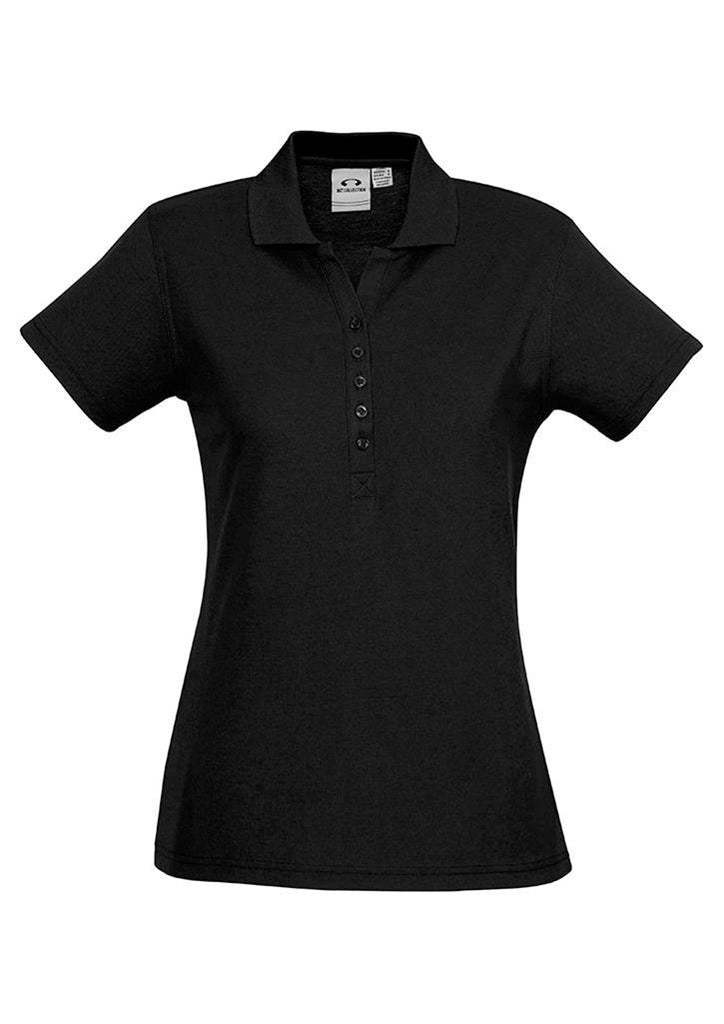 Biz Collection-Biz Collection Ladies Crew Polo(1st 10 Colours)-Black / 8-Corporate Apparel Online - 9