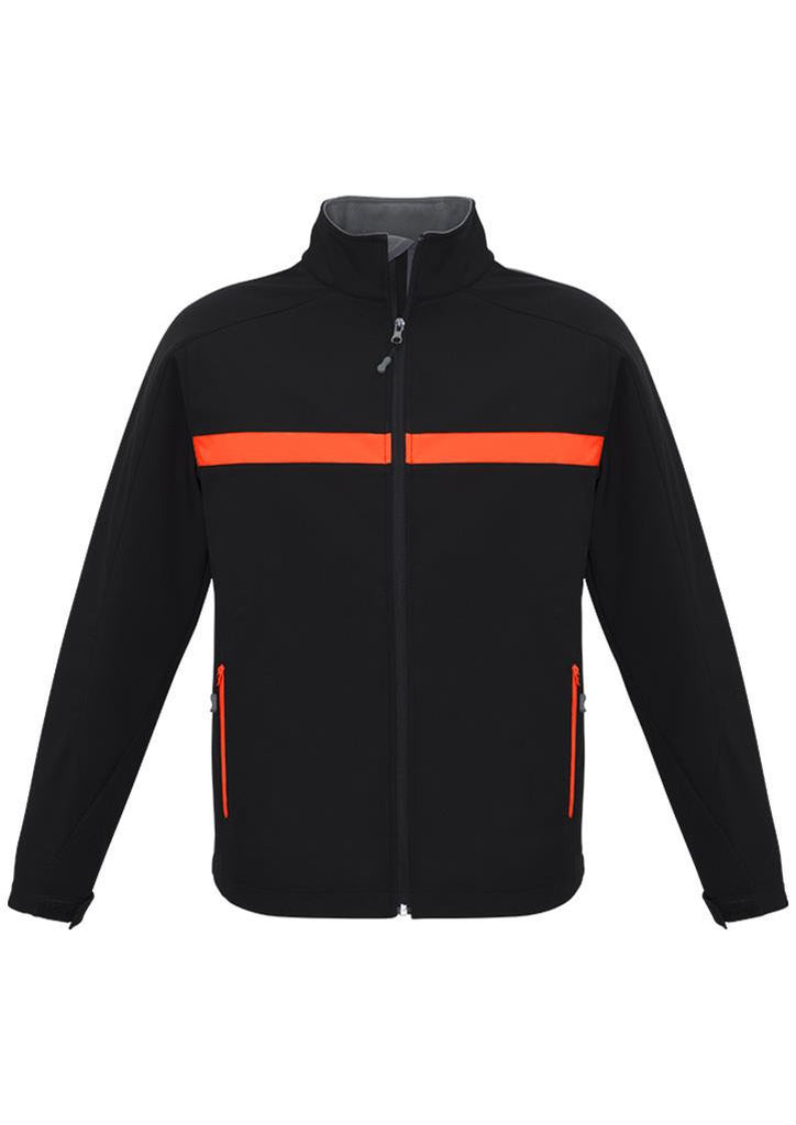 Biz Collection-Biz Collection Unisex Charger Jacket-Black/Fluoro Orange/Grey / XXS-Corporate Apparel Online - 2