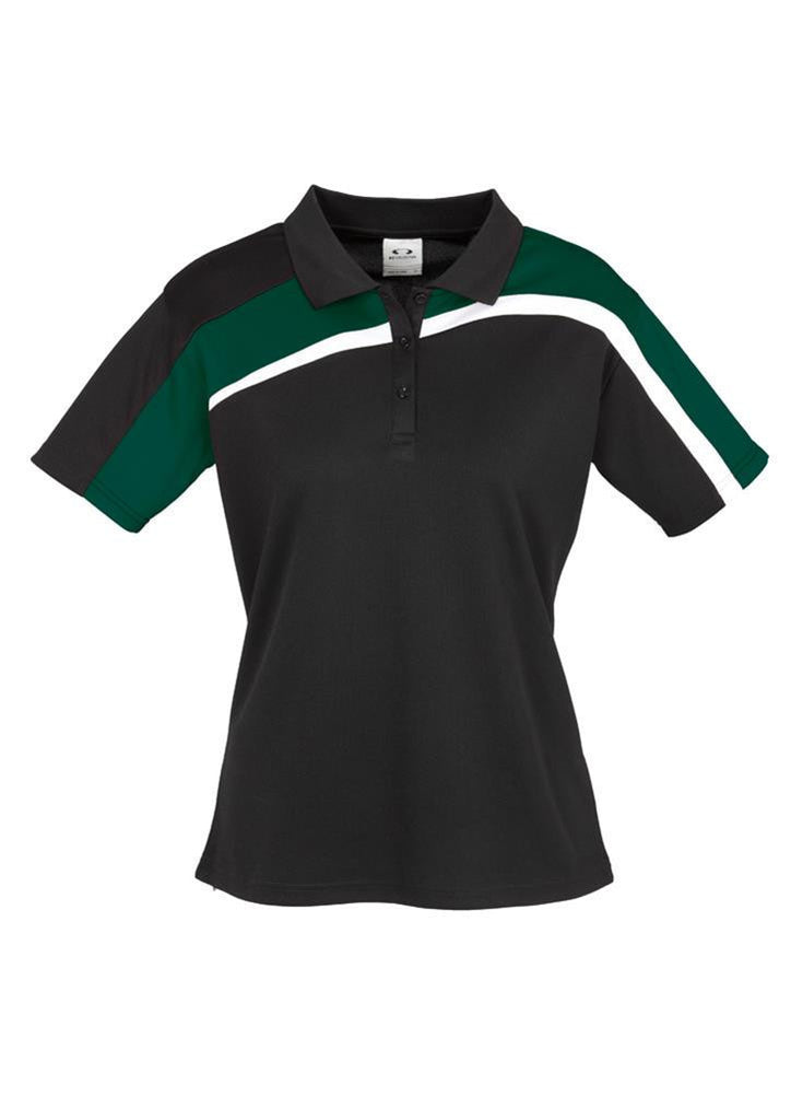 Biz Collection-Biz Collection Ladies Velocity polo-Black / Forest / White / 8-Corporate Apparel Online - 2