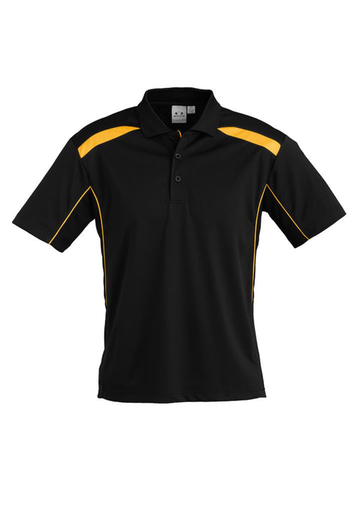 Biz Collection-Biz Collection Mens United Short Sleeve Polo 1st ( 11 Colour )-Black / Gold / Small-Corporate Apparel Online - 4