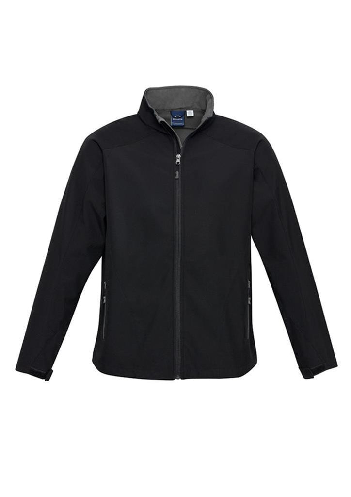 Biz Collection-Biz Collection Mens Geneva Jacket-Black/Graphite / S-Corporate Apparel Online - 3