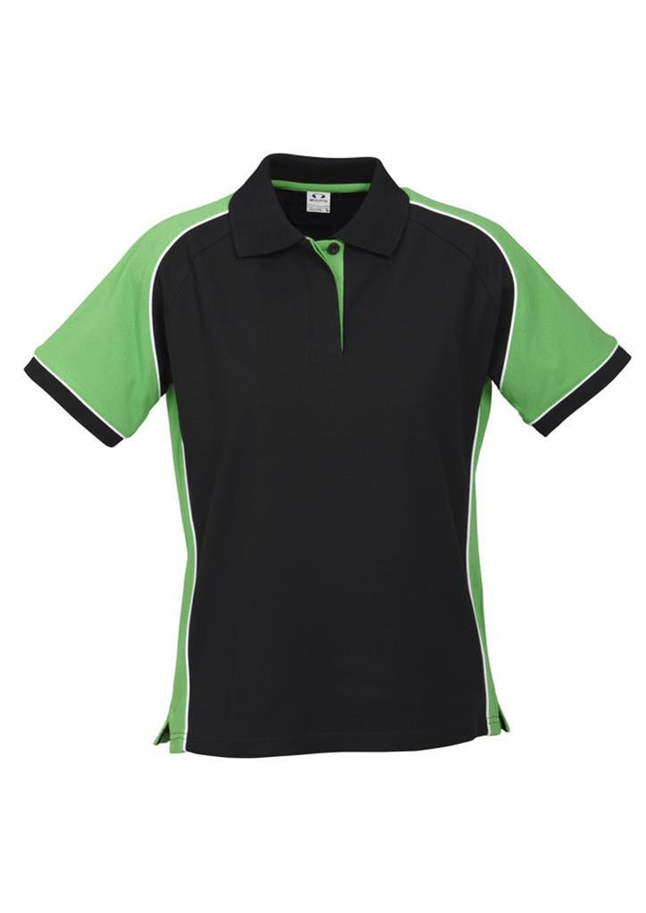 Biz Collection-Biz Collection Ladies Nitro Polo-Black/Green/White / 8-Corporate Apparel Online - 1