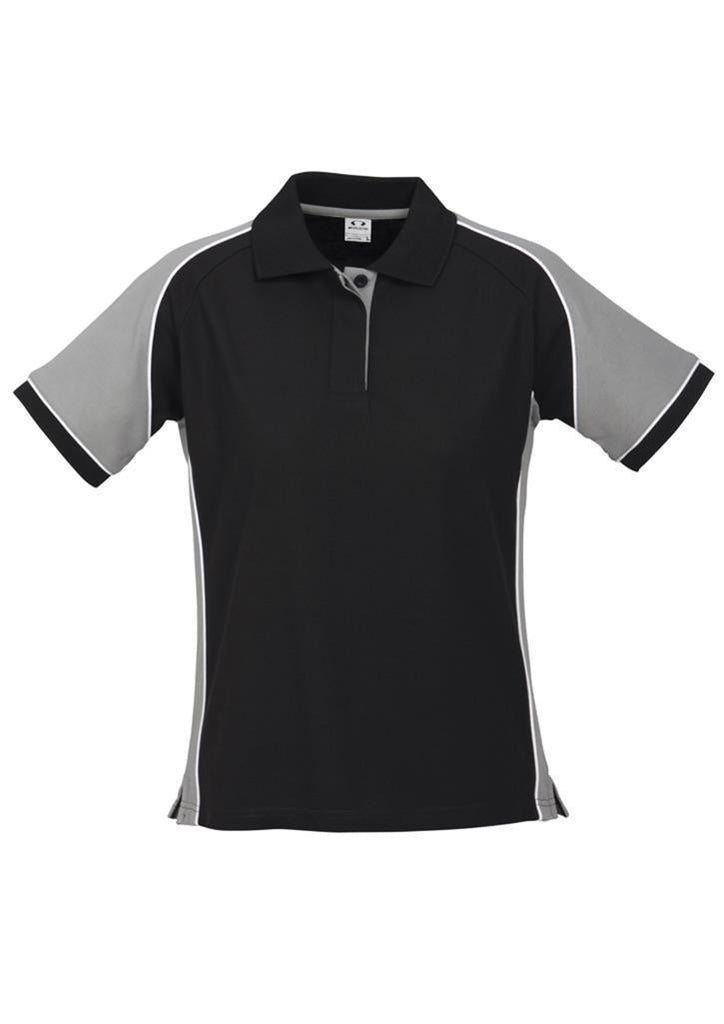 Biz Collection-Biz Collection Ladies Nitro Polo-Black/Grey/White / 8-Corporate Apparel Online - 2