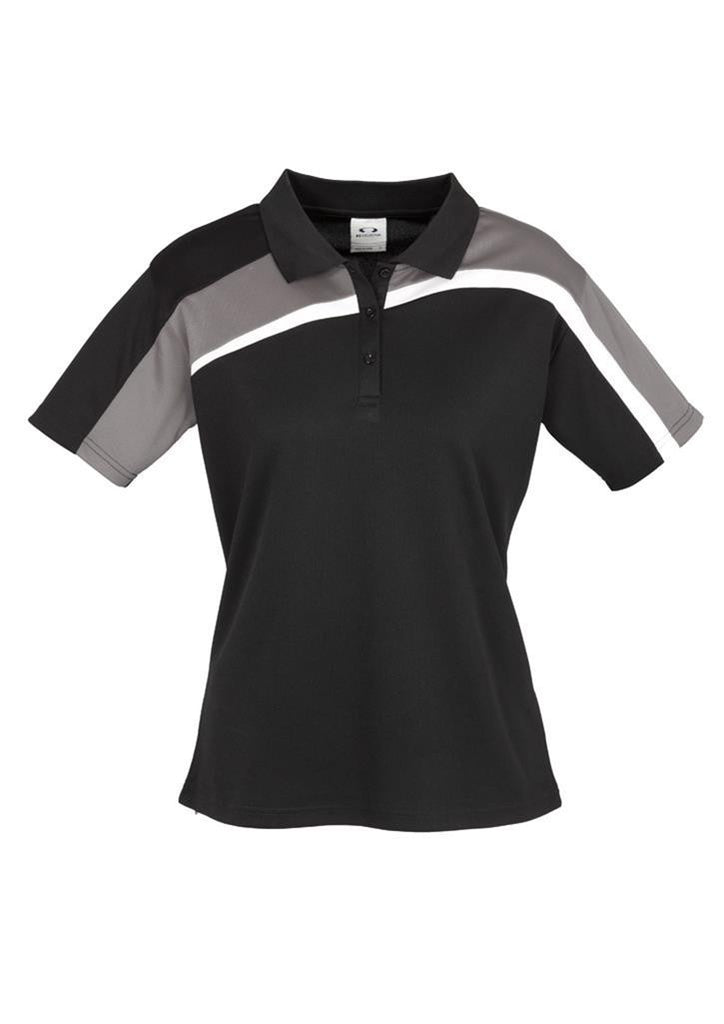 Biz Collection-Biz Collection Ladies Velocity polo-Black / Grey / White / 8-Corporate Apparel Online - 4