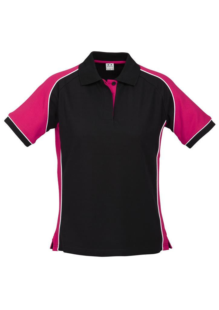 Biz Collection-Biz Collection Ladies Nitro Polo-Black/Megenta/White / 8-Corporate Apparel Online - 3