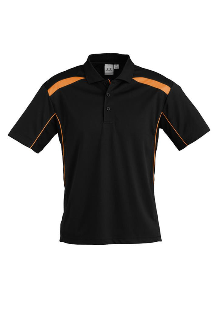 Biz Collection-Biz Collection Mens United Short Sleeve Polo 1st ( 11 Colour )-Black / Orange / Small-Corporate Apparel Online - 5