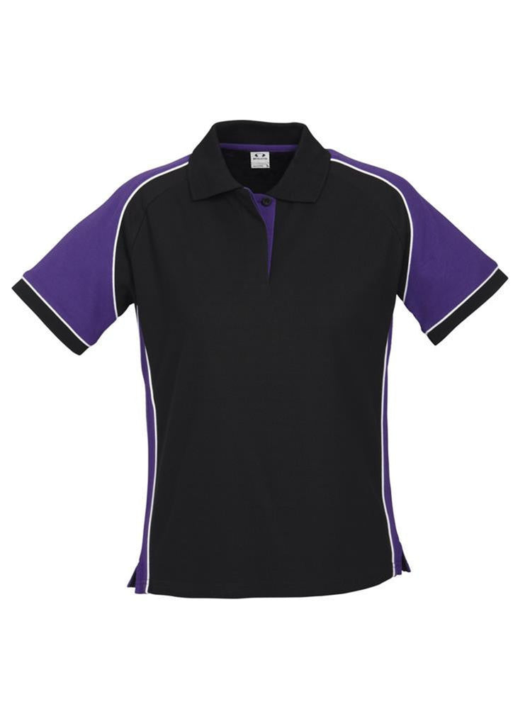 Biz Collection-Biz Collection Ladies Nitro Polo-Black/Purple/White / 8-Corporate Apparel Online - 5