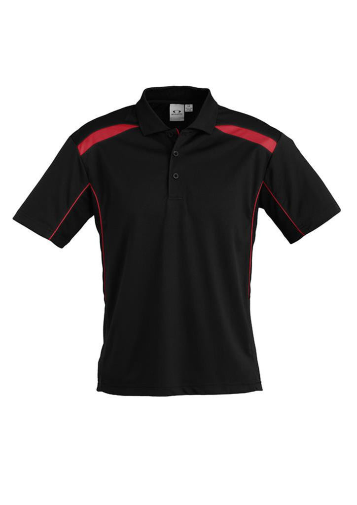 Biz Collection-Biz Collection Mens United Short Sleeve Polo 1st ( 11 Colour )-Black / Red / Small-Corporate Apparel Online - 6