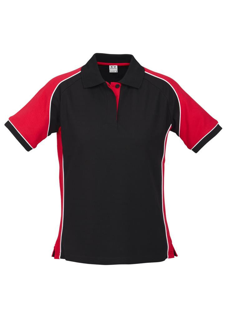 Biz Collection-Biz Collection Ladies Nitro Polo-Black/Red/White / 8-Corporate Apparel Online - 6