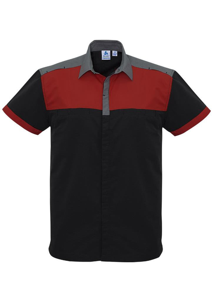 Biz Collection-Biz Collection Mens Charger Shirt-Black/Red/Grey / XXS-Corporate Apparel Online - 5