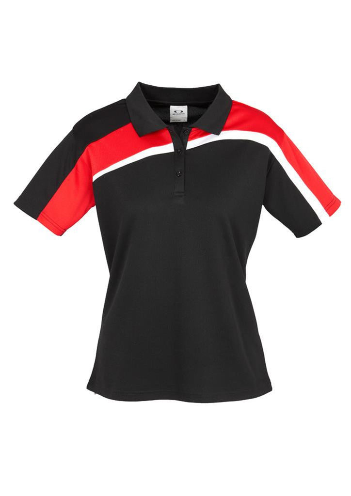 Biz Collection-Biz Collection Ladies Velocity polo-Black / Red / White / 8-Corporate Apparel Online - 5