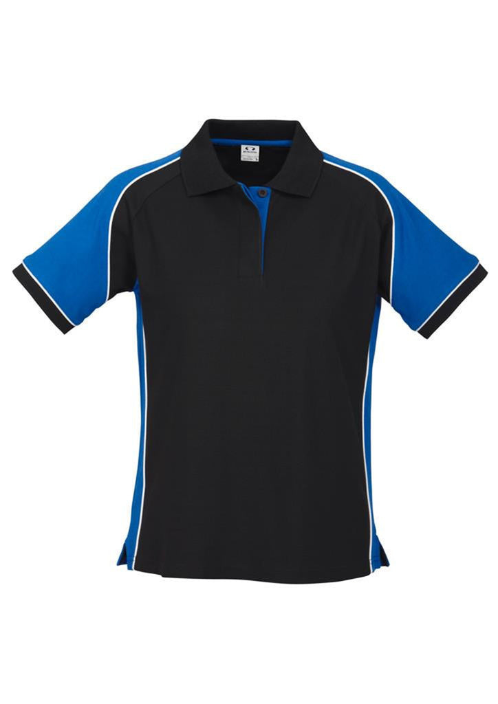Biz Collection-Biz Collection Ladies Nitro Polo-Black/Royal/White / 8-Corporate Apparel Online - 7