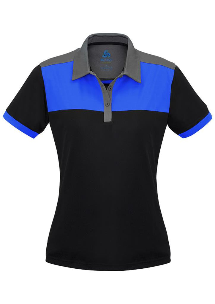 Biz Collection-Biz Collection Ladies Charger Polo-Black/Royal/Grey / 8-Corporate Apparel Online - 6