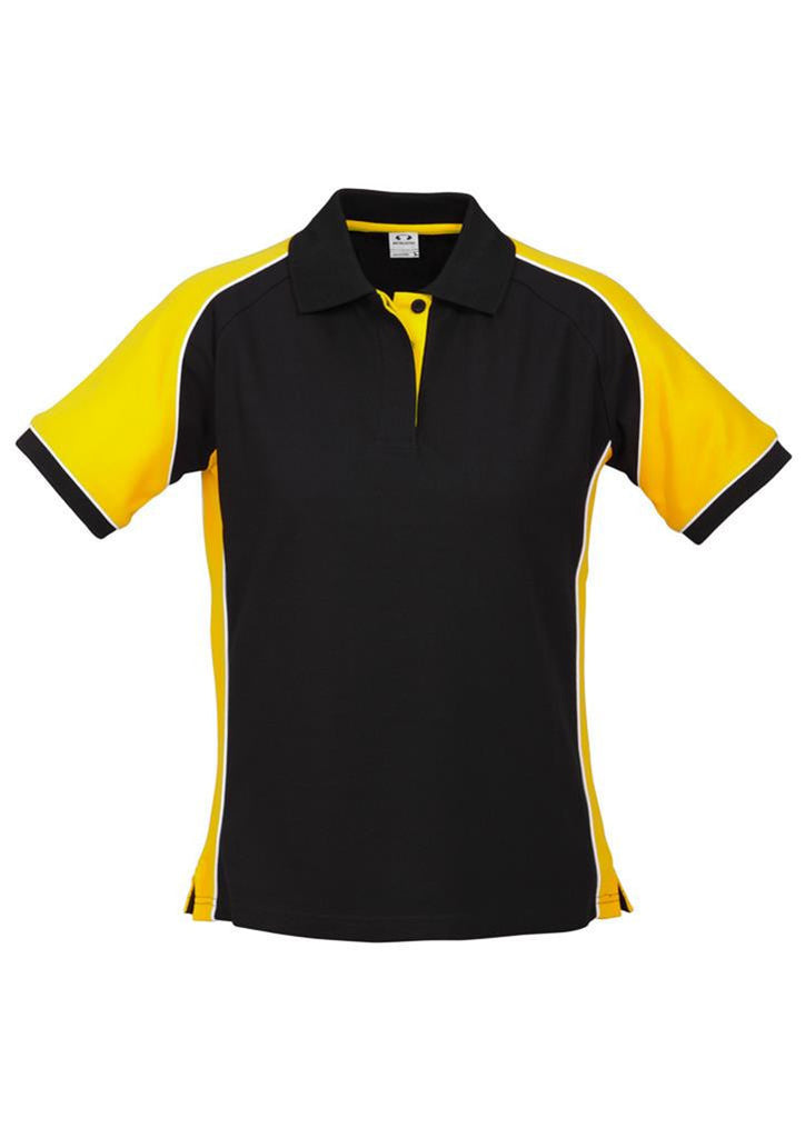 Biz Collection-Biz Collection Ladies Nitro Polo-Black/yellow/White / 8-Corporate Apparel Online - 8
