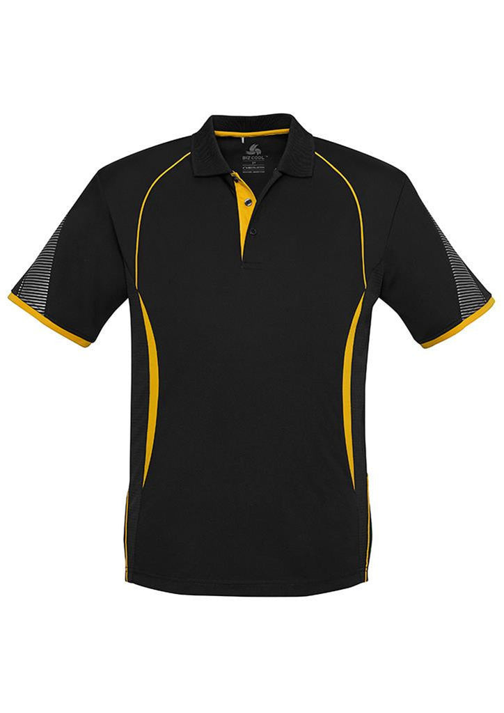 Biz Collection-Biz Collection  Mens Razor Polo-Black/Gold / S-Corporate Apparel Online - 7