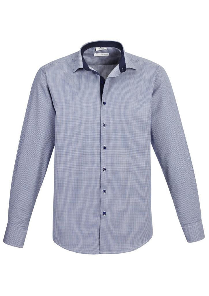 Biz Collection-Biz Collection Edge Mens long sleeve shirt-Blue / S-Corporate Apparel Online - 2