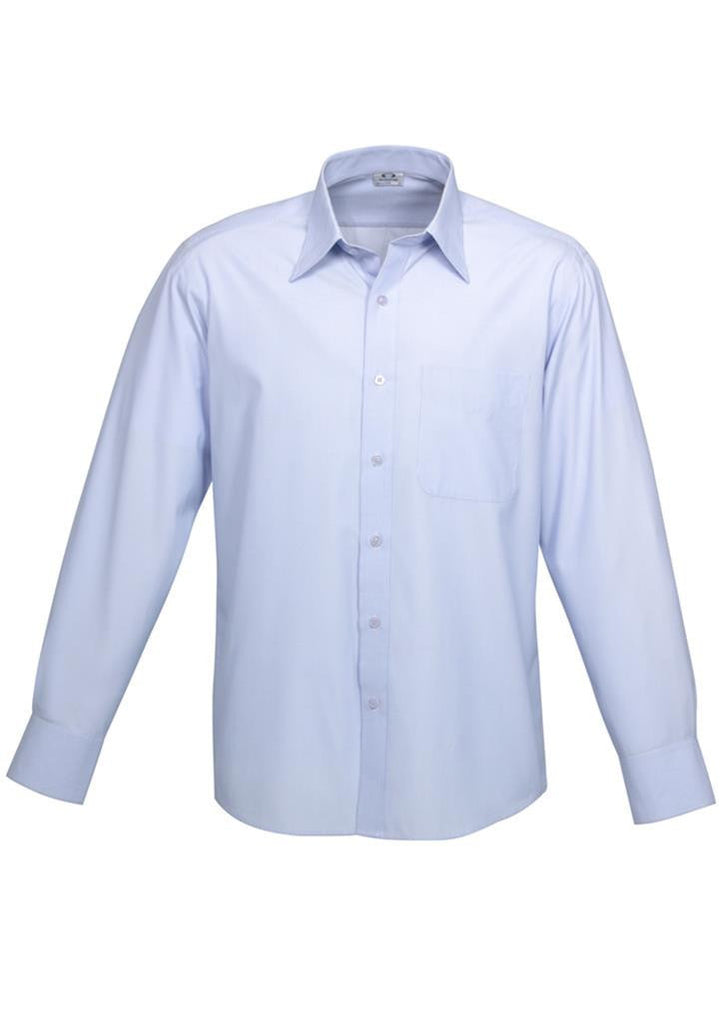 Biz Collection-Biz Collection Mens Ambassador Long Sleeve Shirt-Blue / S-Corporate Apparel Online - 2