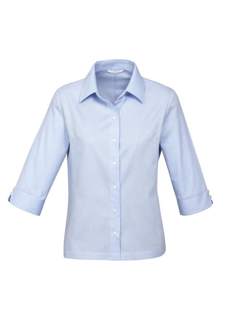 Biz Collection-Biz Collection Ladies Luxe 3/4 Sleeve Shirt-Blue / 6-Corporate Apparel Online - 2