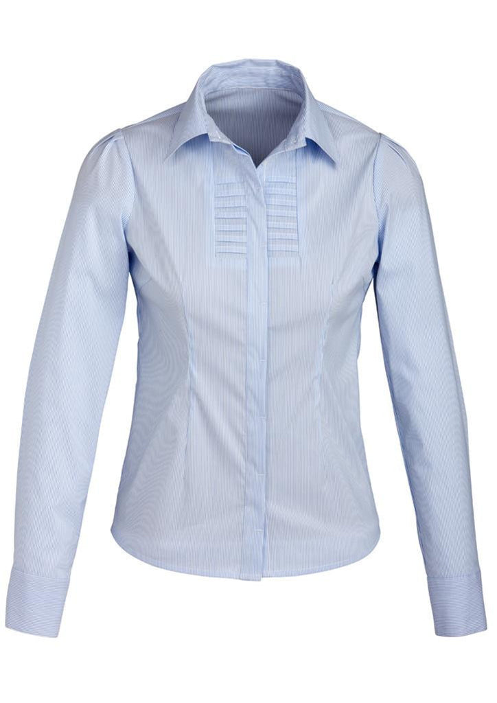 Biz Collection-Biz Collection Ladies Berlin Long Sleeve Shirt-Blue / 6-Corporate Apparel Online - 3