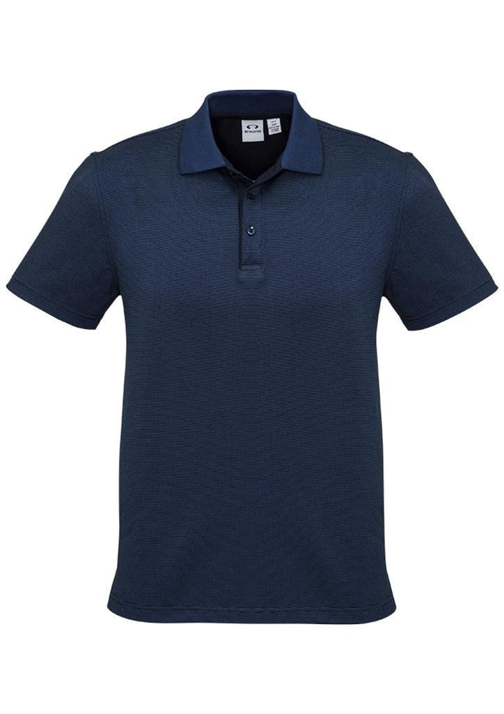 Biz Collection-Biz Collection Mens Shadow Polo-Carbon Blue / S-Corporate Apparel Online - 2