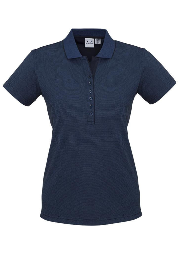Biz Collection-Biz Collection Ladies Shadow Polo-Carbon Blue / 8-Corporate Apparel Online - 2