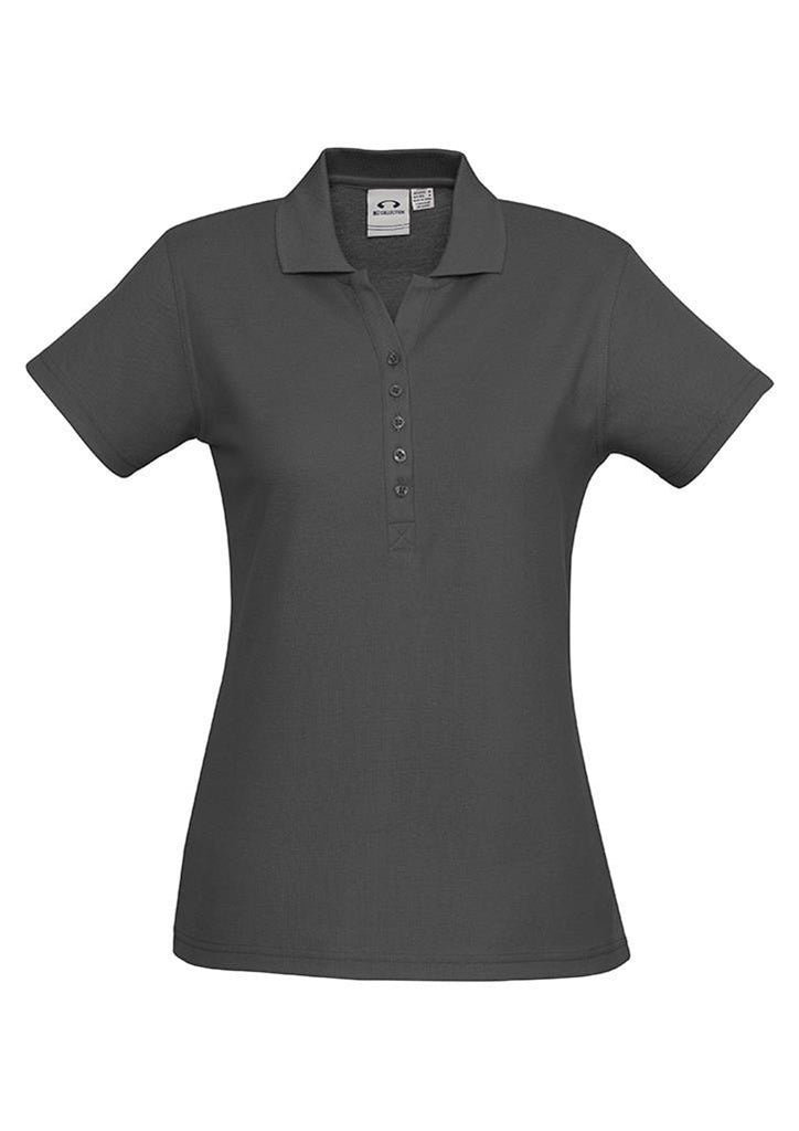 Biz Collection-Biz Collection Ladies Crew Polo(1st 10 Colours)-Charcoal / 8-Corporate Apparel Online - 11