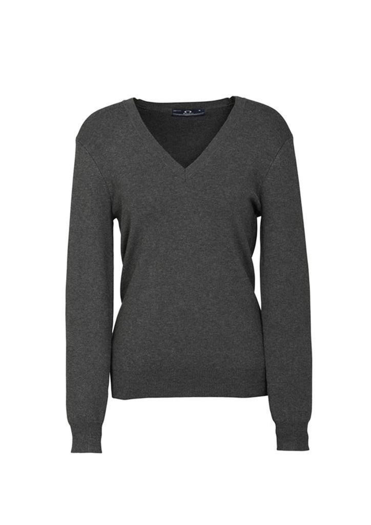 Biz Collection-Biz Collection Ladies V Neck Pullover-Charcoal / Small-Corporate Apparel Online - 3
