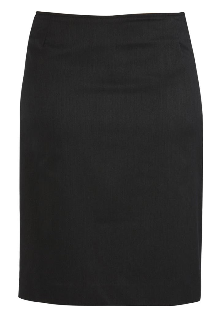 Biz Corporates-Biz Corporates Bandless Straight Skirt-Charcoal / 4-Corporate Apparel Online - 4