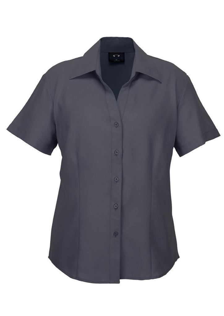 Biz Collection-Biz Collection Ladies Plain Oasis Shirt-S/S-Charcoal / 6-Corporate Apparel Online - 4