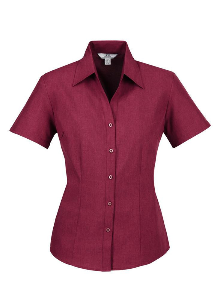 Biz Collection-Biz Collection Ladies Plain Oasis Shirt-S/S-Cherry / 6-Corporate Apparel Online - 5