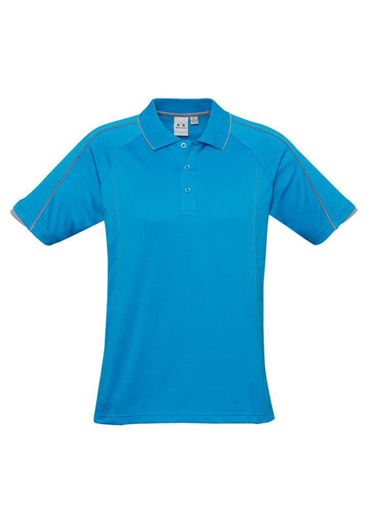 Biz Collection-Biz Collection Mens Blade Polo-Cyan/SilverGrey / S-Corporate Apparel Online - 3