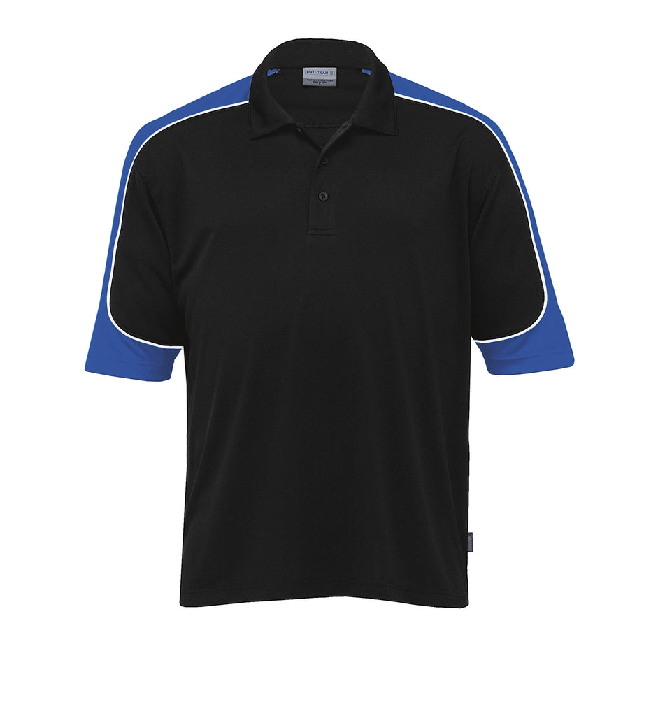 Gear For Life-Gear For Life Men's Dri Gear Challenger Polo(1st 9 Colours)-Black/Royal/White / 4XS-Corporate Apparel Online - 5