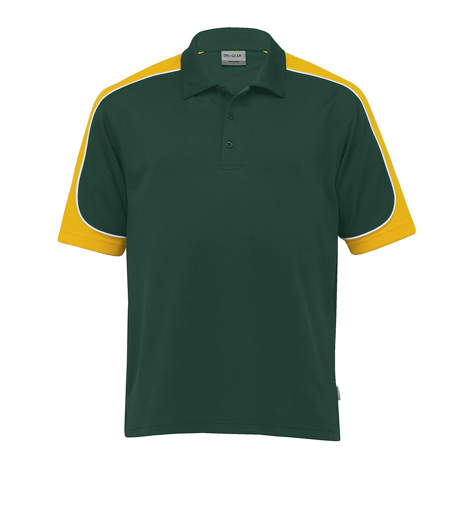 Gear For Life-Gear For Life Men's Dri Gear Challenger Polo(1st 9 Colours)-Green/Gold/White / 4XS-Corporate Apparel Online - 7