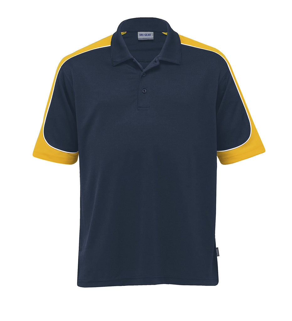 Gear For Life-Gear For Life Men's Dri Gear Challenger Polo(1st 9 Colours)-Navy/Gold/White / 4XS-Corporate Apparel Online - 8