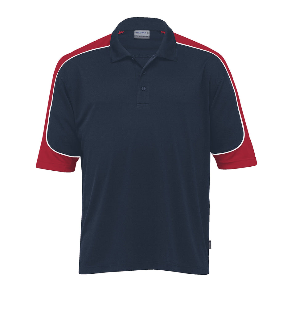 Gear For Life-Gear For Life Men's Dri Gear Challenger Polo(1st 9 Colours)-Navy/Red/White / 4XS-Corporate Apparel Online - 9