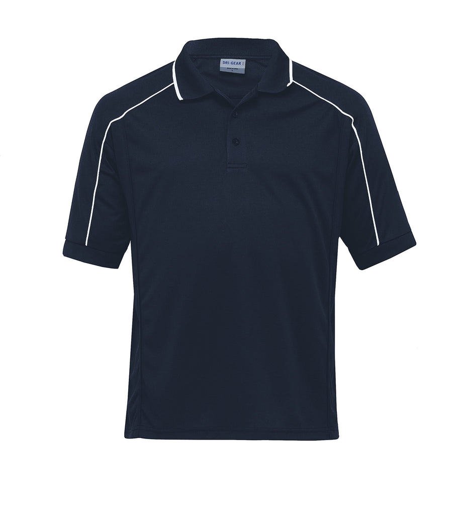 Gear For Life-Gear For Life Gents Dri Gear Eyelet Polo-Navy/White / S-Corporate Apparel Online - 3