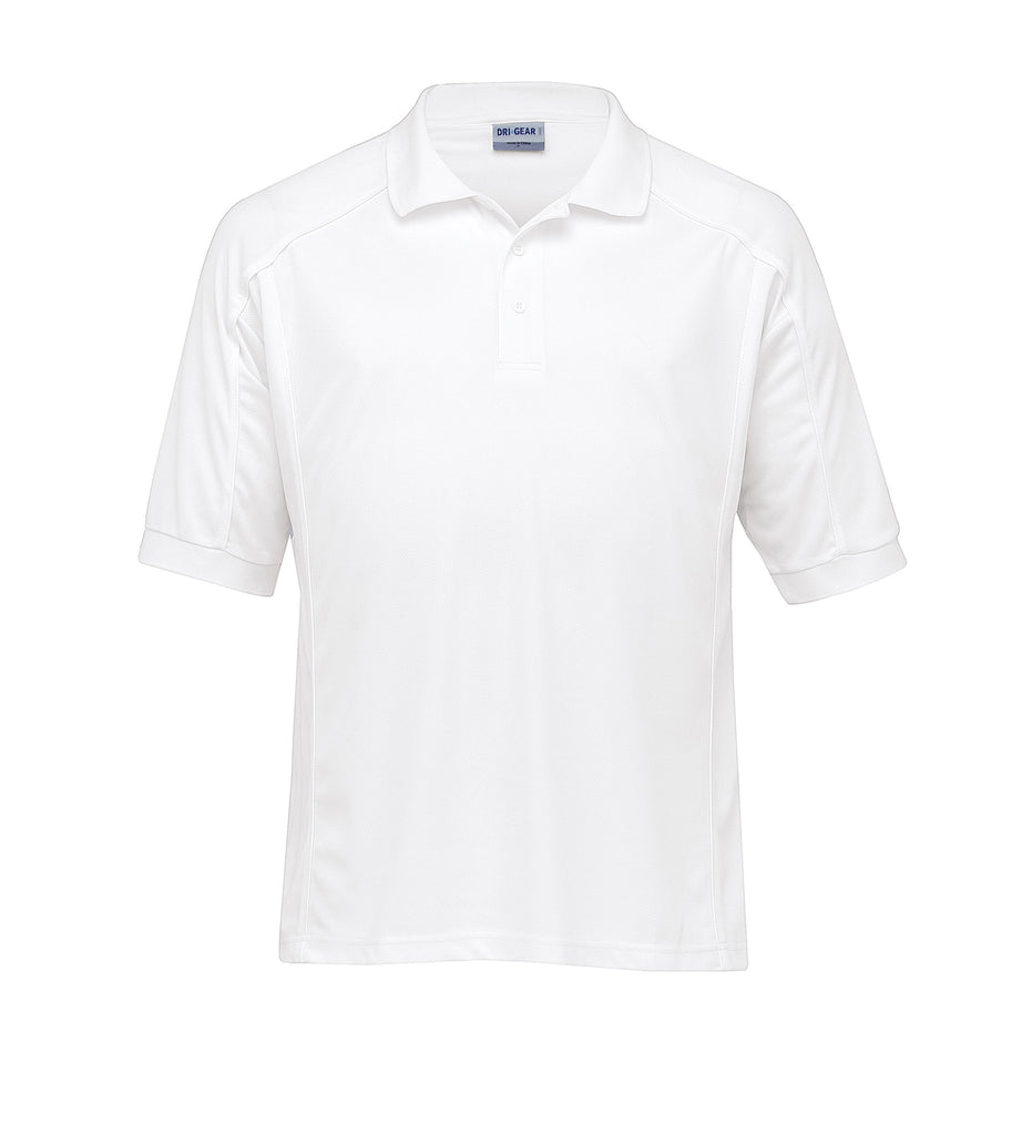Gear For Life-Gear For Life Gents Dri Gear Eyelet Polo-White/White / S-Corporate Apparel Online - 4