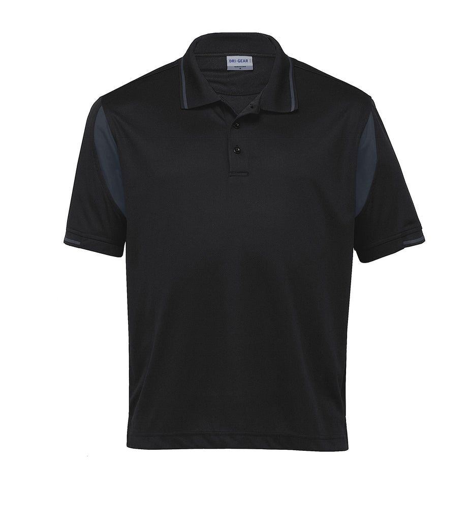 Gear For Life-Gear For Life Dri Gear Insert Polo-Black/Charcoal / S-Corporate Apparel Online - 3