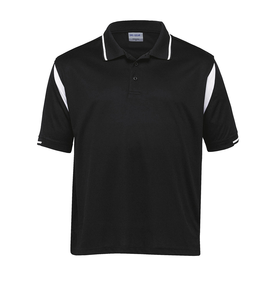 Gear For Life-Gear For Life Dri Gear Insert Polo-Black/White / S-Corporate Apparel Online - 6