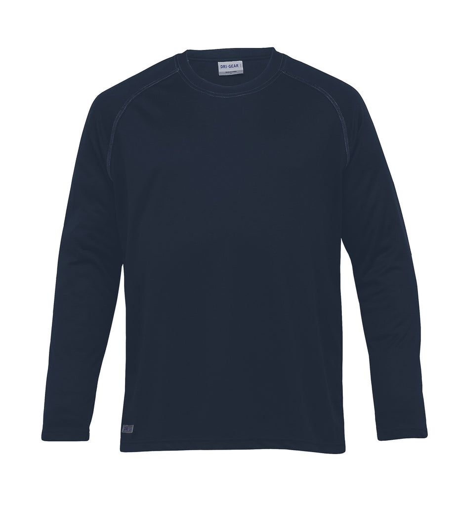 Gear For Life-Gear For Life Dri Gear Mens Long Sleeve Tee-Navy / L-Corporate Apparel Online - 3