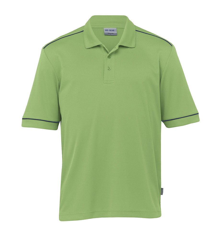 Gear For Life-Gear For Life Dri Gear Mens Matrix Polo-Cool Lime/Navy / XS-Corporate Apparel Online - 4