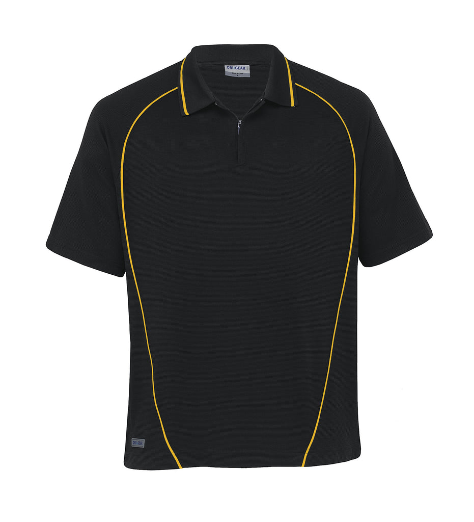 Gear For Life-Gear For Life Dri Gear Piped Ottoman Instinct Polo(1st 8 Colours)-Black/Gold / XXS-Corporate Apparel Online - 4