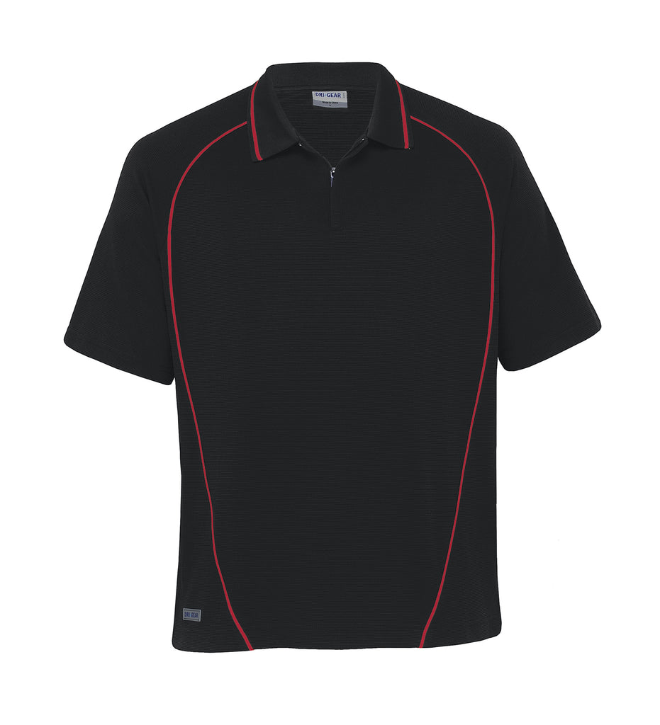 Gear For Life-Gear For Life Dri Gear Piped Ottoman Instinct Polo(1st 8 Colours)-Black/Red / XXS-Corporate Apparel Online - 5
