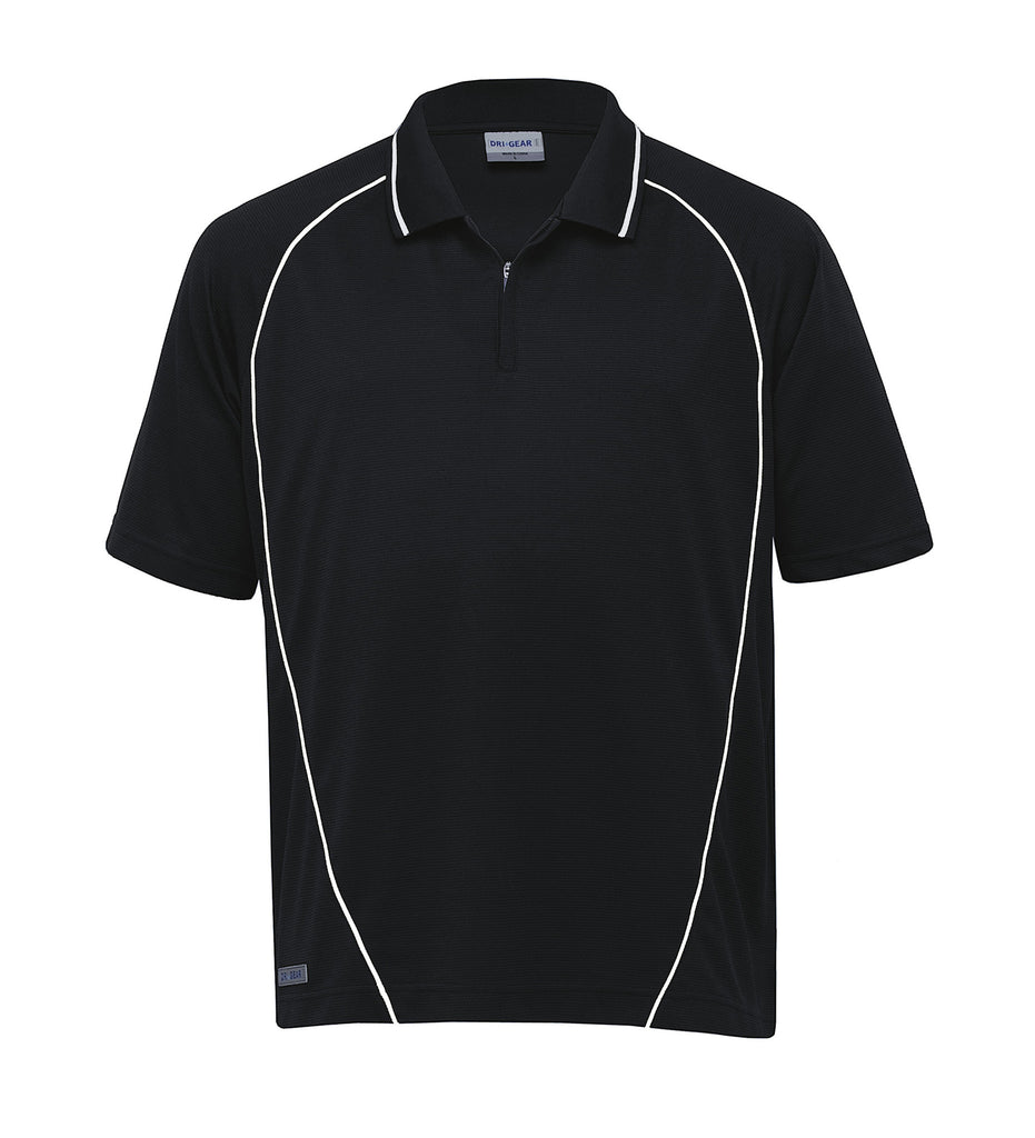 Gear For Life-Gear For Life Dri Gear Piped Ottoman Instinct Polo(1st 8 Colours)-Black/White / XXS-Corporate Apparel Online - 7