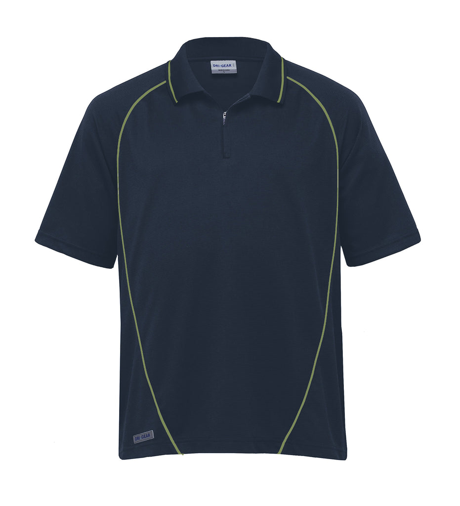 Gear For Life-Gear For Life Dri Gear Piped Ottoman Instinct Polo(1st 8 Colours)-Navy/Apple / XXS-Corporate Apparel Online - 9