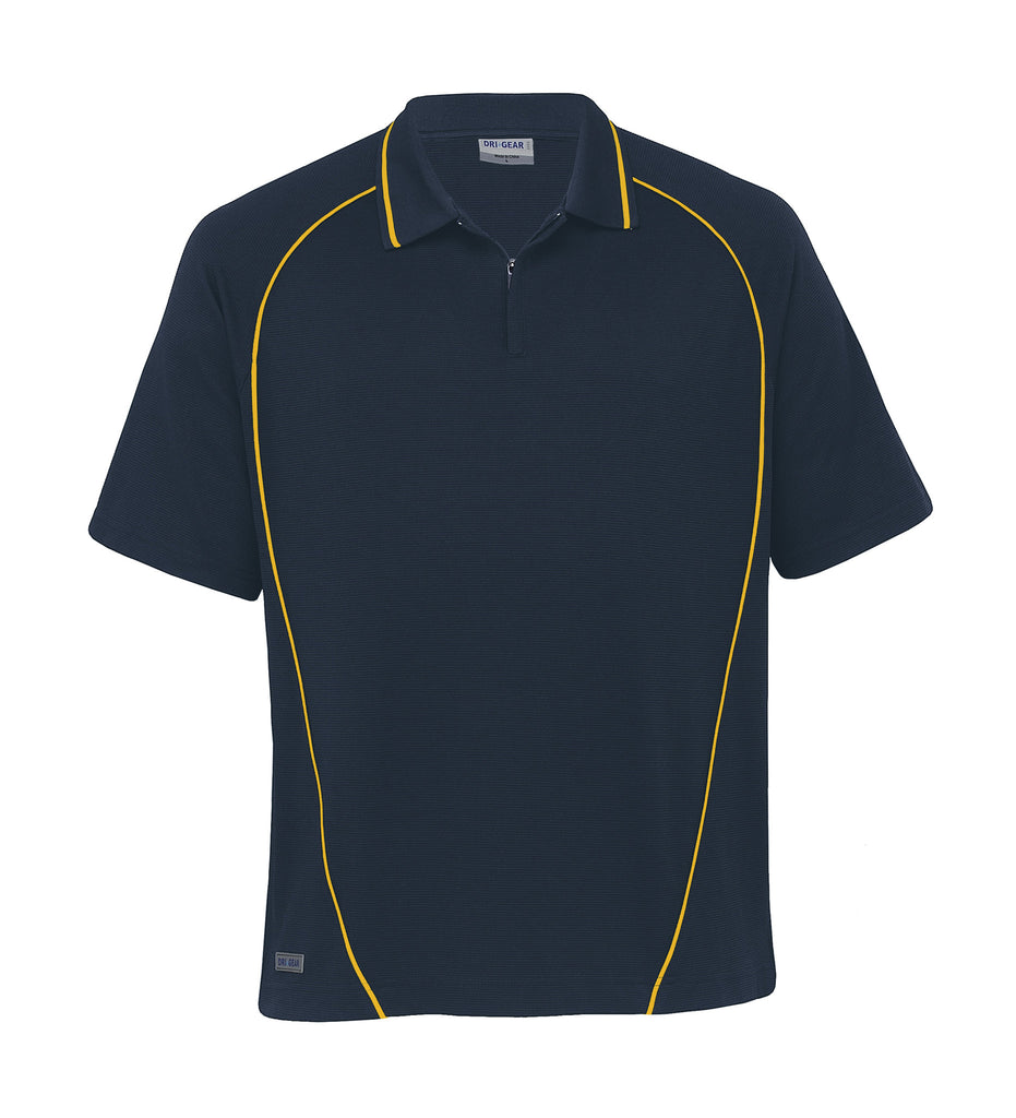 Gear For Life-Gear For Life Dri Gear Piped Ottoman Instinct Polo(1st 8 Colours)-Navy/Gold / 3XL-Corporate Apparel Online - 3