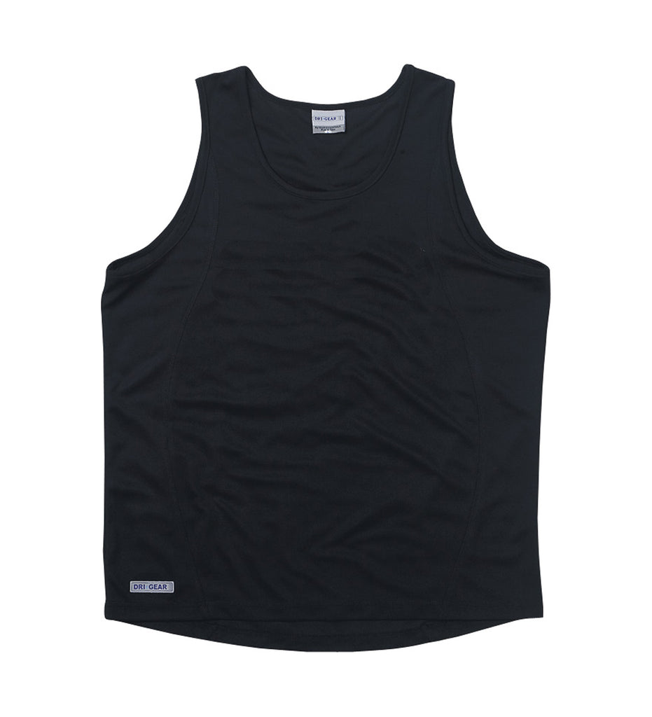 Gear For Life-Gear For Life Dri Gear Mens Plain Singlet-Black / S-Corporate Apparel Online - 2