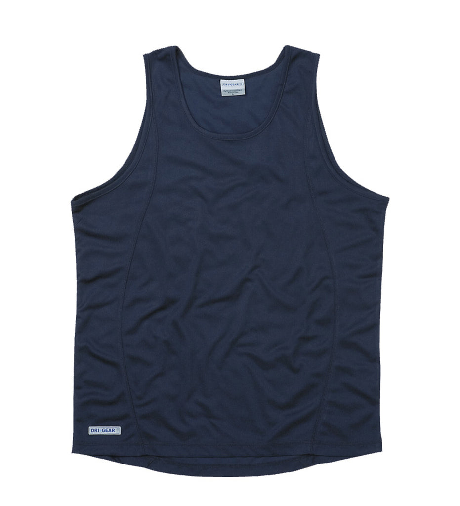 Gear For Life-Gear For Life Dri Gear Mens Plain Singlet-Navy / S-Corporate Apparel Online - 3